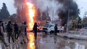 قتيلان وإصابات بانفجار سيارتين مفخختين برأس العين السورية