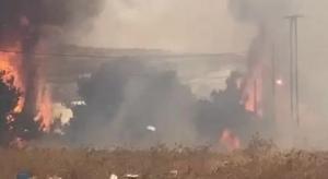 حريق كبير في ناعور