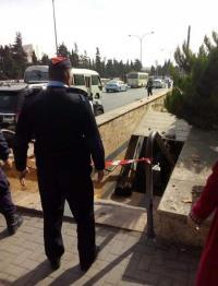 اغلاق نفق المشاة في الجامعة الاردنية بسبب حقيبة مشبوهة