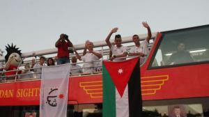 جماهير الوطن تحتفي بالبطل أبو غوش
