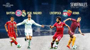 "مدريد يواجه ميونخ في نصف نهائي ""ابطال اوروبا"""