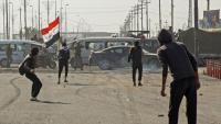 مواجهات عنيفة وإطلاق نار كثيف على المتظاهرين بالعراق