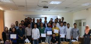جامعة الشرق الأوسط تكرم طلبة دورة تصميم المنشآت الخرسانية