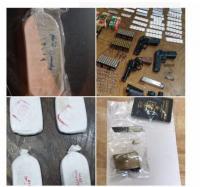 ضبط مخدرات واسلحة بحوزة 33 مروجاً (صور)