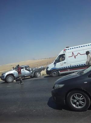 وفاتان وإصابة بحادث قرب جسر خو