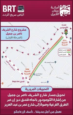 تفاصيل الإغلاقات والتحويلات المرورية بعمان الجمعة المقبل