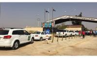 108 لاجئين سوريين يغادرون الاردن عبر معبر جابر