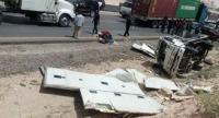 17 اصابة بتصادم حافلة وقلاب في الزارا