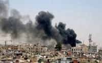 مقتل 35 شخصاً بسقوط صاروخ على سوق شعبي بدمشق
