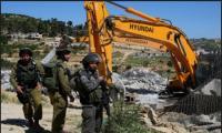 قوات الاحتلال تهدم مدرسة فلسطينية جنوب الخليل