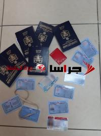 ضبط عصابة لتزوير جوازات السفر الأردنية بالقدس (صور)