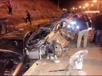 وفاة بتصادم مركبة وتريلا على طريق المطار