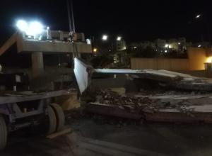 انهيارات بشارع الجيش (صور)