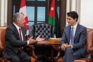 رئيس الوزراء الكندي: الملك عبدالله قائد استثنائي