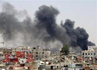 سوريا ..  انفجار بمستودع ذخيرة يهز العاصمة دمشق