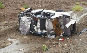 8 اصابات بتدهور مركبة في وادي النهير
