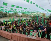 حماس تحتفل بانطلاقتها وسط قطاع غزة
