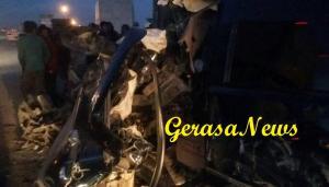 اصابة شخص  بحادث مروع في لواء سحاب (صور)