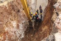 وفاة عامل بمشروع صرف صحي في مرج الحمام (صور)