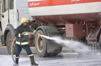 ضابط بالدفاع المدني يمنع احتراق صهريج  محمل بـ35 ألف لتر بنزين