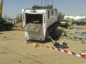 اربد: إصابة 9 أشخاص بتدهور حافلة نقل عمومي