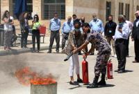 جامعة الشرق الأوسط تختتم ورشة حول إجراءات السلامة العامة والتعامل مع الحرائق