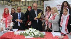 نادي المرأة الرياضي بشيد بالملكة رانيا