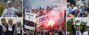 احتفالات جنونية في مدريد بلقب الابطال