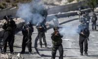 اصابة فلسطينيين بينهم صحفي بمواجهات مع الاحتلال في نابلس