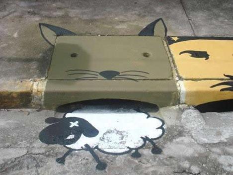 بالصور: فن الرسم على البالوعات فى البرازيل  Image