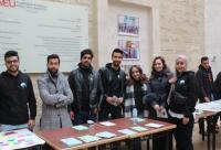"""طلبة إعلام جامعة الشرق الأوسط ينفذون حملة """"حلّقي"""""""