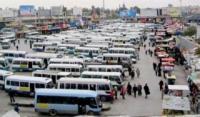 سائقو الحافلات العاملة على خط اربد - الزرقاء يضربون عن العمل