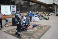 """الدفاع المدني يُنظم مبادرة """"صحتك بتهمنا"""" في اربد (صور)"""