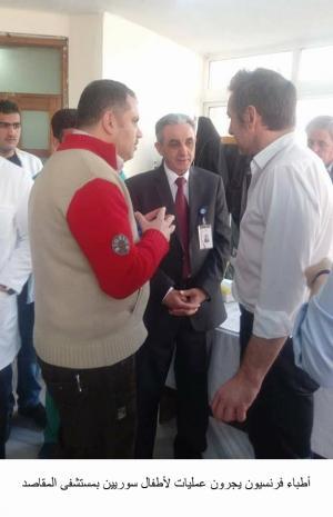أطباء فرنسيون يجرون عمليات لأطفال سوريين بمستشفى المقاصد