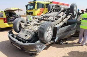 وفاة 3 اشخاص واصابة 4 بتدهور مركبة في اربد