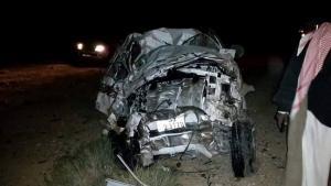 وفاة 4 اشخاص بحادث تصادم مروع على الصحراوي