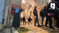 فلسطينية تعبر عن فرحتها بدخول الأقصى (فيديو)