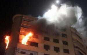 10 إصابات بحريق منزل في الأشرفية