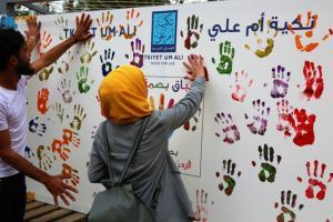 """طلبة """"عمان الأهلية"""" يشاركون بفعالية """"بصمة إيد"""""""