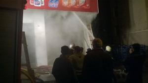 حريق يلتهم محل ألبسة في اربد