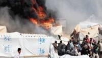 إصابة 40 شخصا بحريق في الركبان