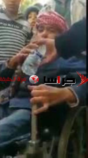 طفل مقعد يشكو الرزاز بدموعه (فيديو)