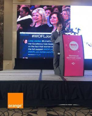 """Orange الأردن راعي الاتصالات الرسمي لمؤتمر """"نساء على خطوط المواجهة"""""""