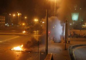 محتجون يغلقون الطريق الدولي بالموقر احتجاجا على نتائج الانتخابات