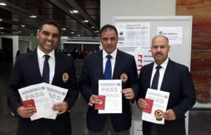 حكام اردنيون يحصلون على شارات دولية بالكاراتيه