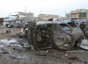 عشرات القتلى بهجوم انتحاري شمال بغداد
