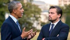 ليوناردو دي كابريو يبحث مع أوباما مكافحة تغير المناخ