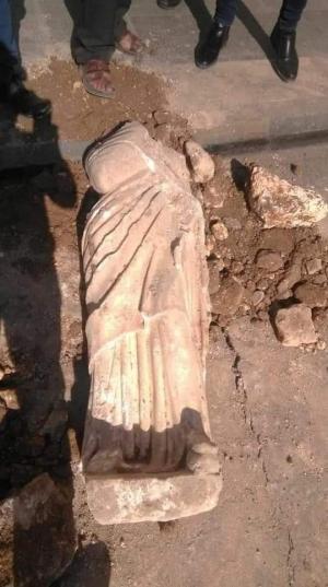 العثور على تمثال قرب الساحة الهاشمية (صور)
