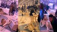 جنون وتكسير في حفل خطوبة (فيديو)