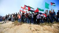 متظاهرون يجتازون السياج الشائك من لبنان إلى فلسطين   .. (فيديو)